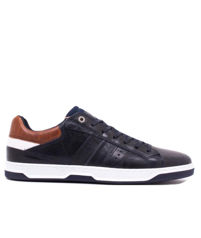 Ανδρικά δερμάτινα Sneakers BULL BOXER K5775477138F07 Μπλε-Ταμπά