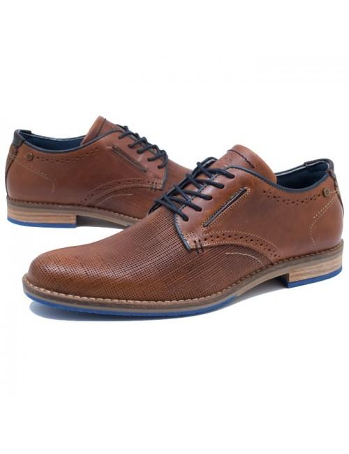 Ανδρικό δερμάτινο παπούτσι BULL BOXER K5775462159R07 Ταμπά