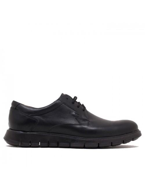Ανδρικό παπούτσι NIKOLAS 7456 ΜΑΥΡΟ
