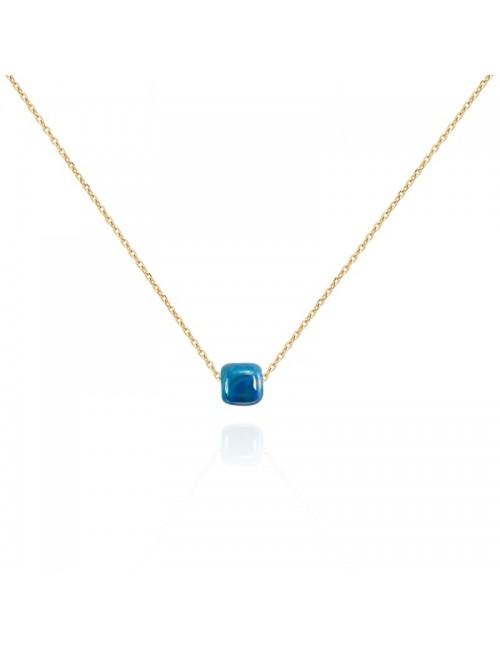 Κολιέ χάντρα ανοξείδωτο ατσάλι buybrand bu200 μπλε