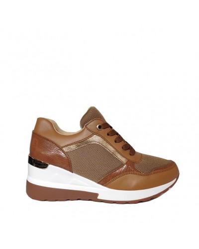 Γυναικεία sneakers BUYBRAND BU3123 καφε
