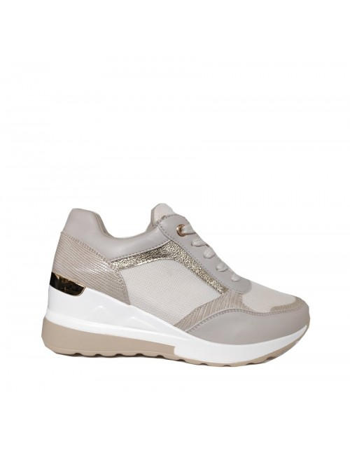 Γυναικεία sneakers BUYBRAND BU3123 μπεζ