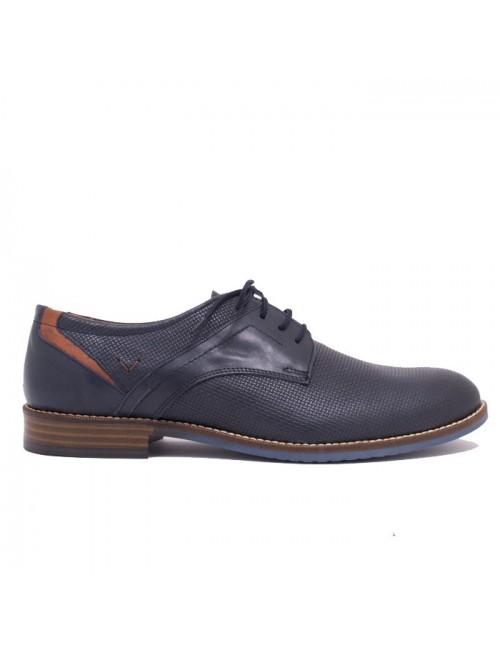 Ανδρικό δετό παπούτσι BUYBRAND B077 Μπλε