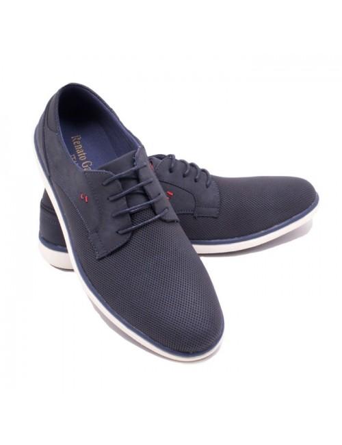 Ανδρικό δετό παπούτσι Renato Garini K564L194105105 Μπλε