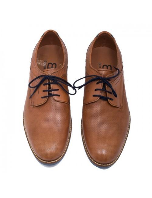 Ανδρικό δετό παπούτσι BUYBRAND B078 Ταμπά