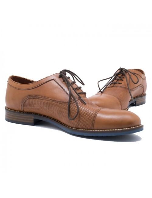 Ανδρικό δετό παπούτσι BUYBRAND B079 Ταμπά