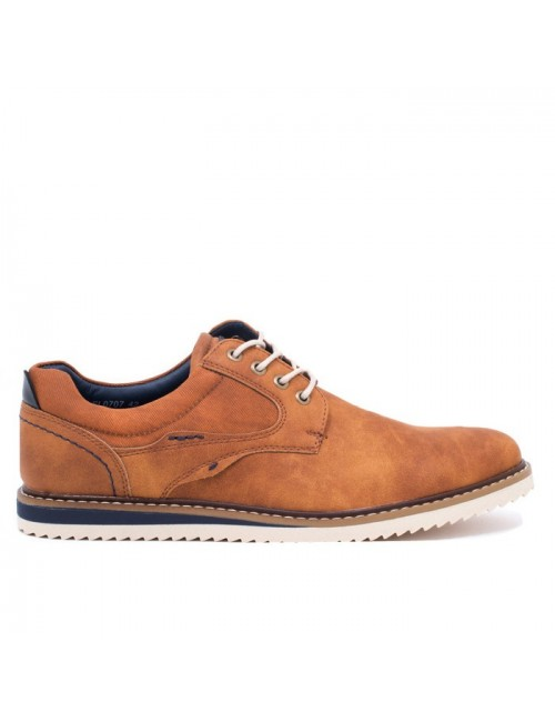 Ανδρικό δετό παπούτσι BUYBRAND BU881 Ταμπά