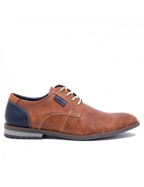 Ανδρικό δετό παπούτσι BUYBRAND BU883 Καφέ