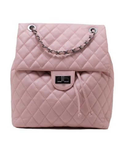 9399841cde Γυναικεία δερμάτινη τσάντα πλάτης καπιτονέ 53-S ΜΑΥΡΗ