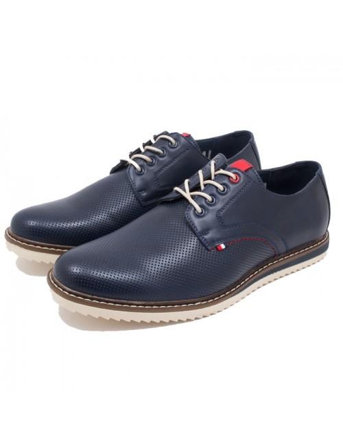 Ανδρικό δετό παπούτσι BUYBRAND BU884 Μπλε