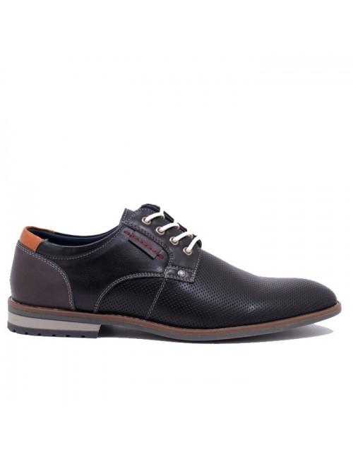 Ανδρικό δετό παπούτσι BUYBRAND BU885 Μαύρο