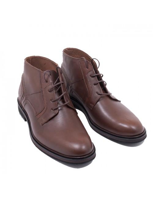 Ανδρικά παπούτσια δετά buybrand δερμάτινα 1030 ταμπά
