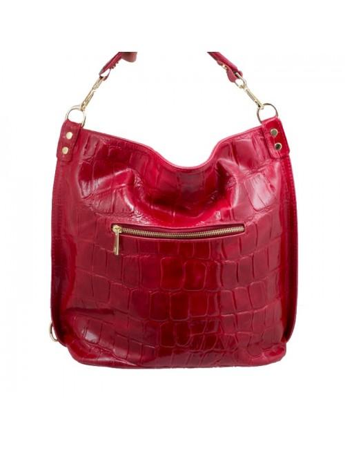 Γυναικεία τσάντα δερμάτινη BU09 Κόκκινη