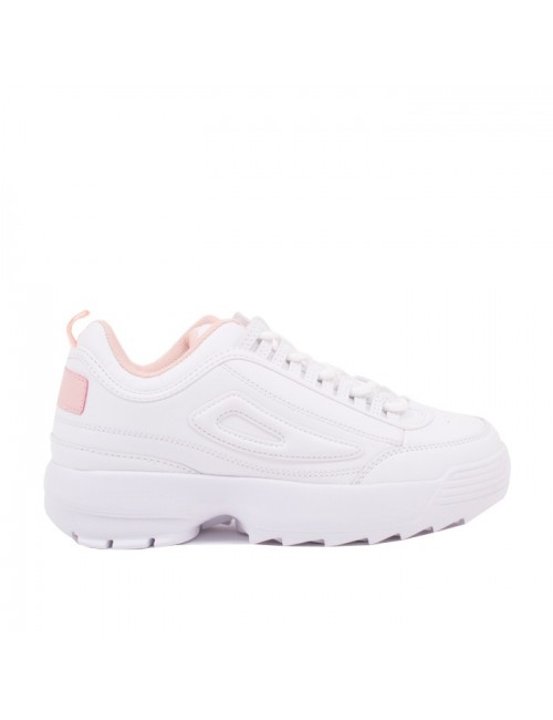 Γυναικεία sneakers BUYBRAND λευκό ροζ LD0940-6