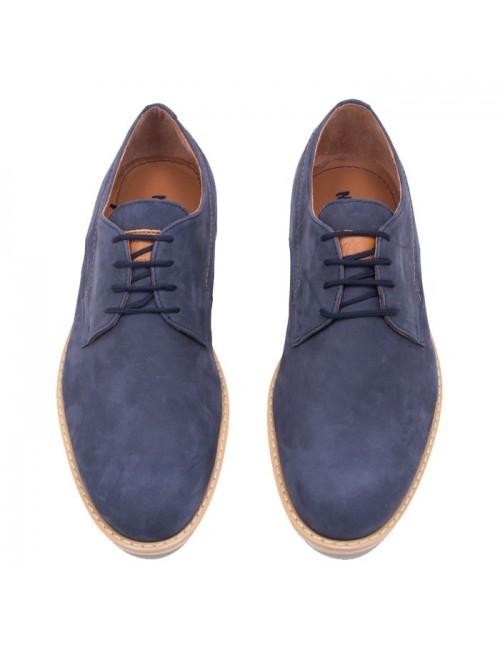 Ανδρικό δετό παπούτσι Nikolas 3300 Μπλε