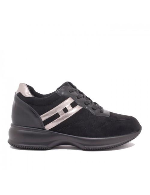 Γυναικεία sneakers BUYBRAND BU401 μαύρα καστόρι