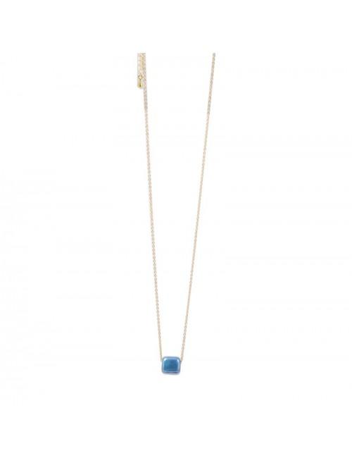 Κολιέ χάντρα ανοξείδωτο ατσάλι buybrand bu201 γαλάζιο