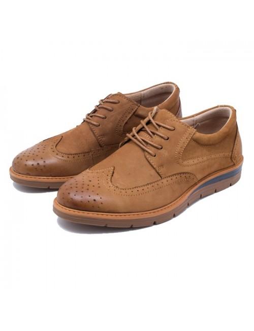 Ανδρικό παπούτσι Buybrand A713 Δερμάτινο Ταμπά