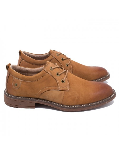 Ανδρικό παπούτσι Buybrand A9833 Δερμάτινο Camel