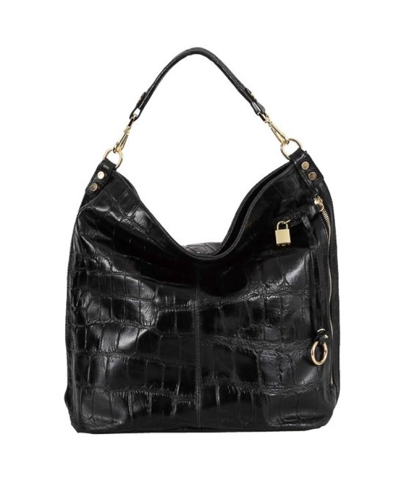 Γυναικεία τσάντα δερμάτινη BU09 Μαύρη