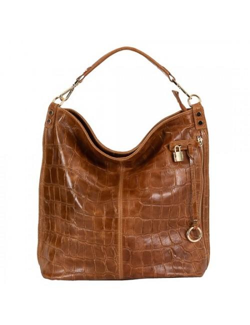 Γυναικεία τσάντα δερμάτινη BU08 Ταμπά