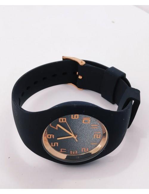 Ρολόι με λουρακι σιλικονης CUCOO 83304 ΜΑΥΡΟ