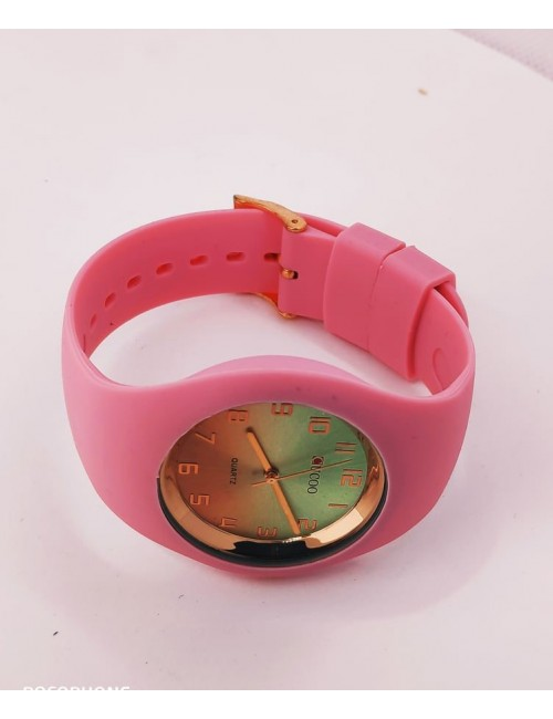 Ρολόι CUCOO με λουρακι σιλικονης 83304 ΡΟΖ