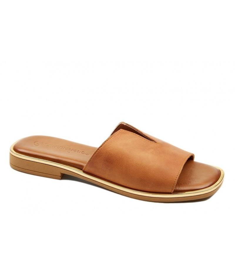 Γυναικείο παπούτσι flat Commanchero 5600-726 Ταμπά