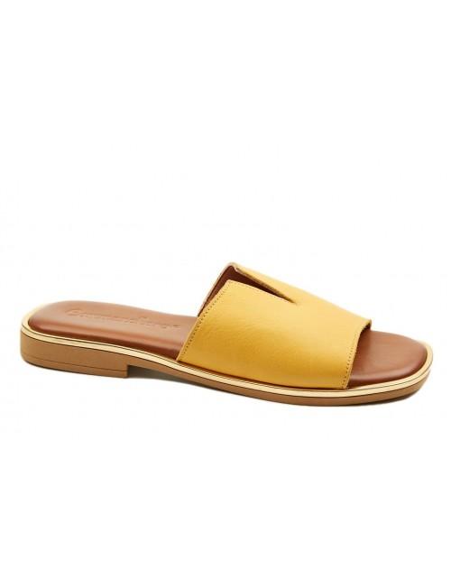 Γυναικείο παπούτσι flat Commanchero 5600-726 Κίτρινο