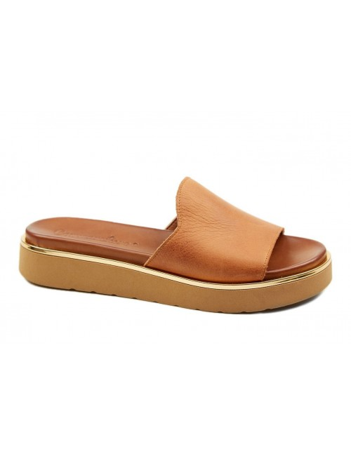 Γυναικείο παπούτσι flat Commanchero 5592-726 Καφέ