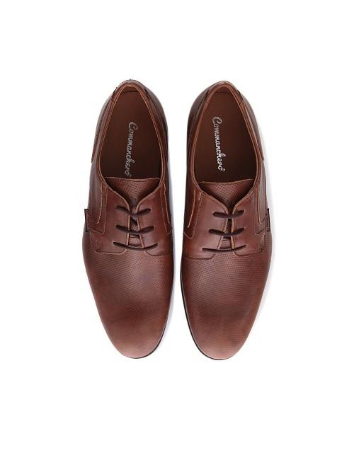Ανδρικό δερμάτινο δετό παπούτσι Commanchero 91629 Ταμπά