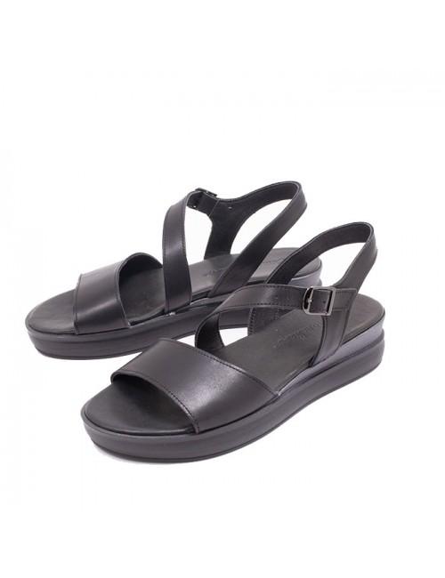 Γυναικείο παπούτσι flat Commanchero 5727-721 ΜΑΥΡΟ