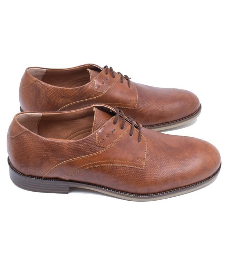 Ανδρικό δερμάτινο δετό παπούτσι Commanchero 91664 Ταμπά