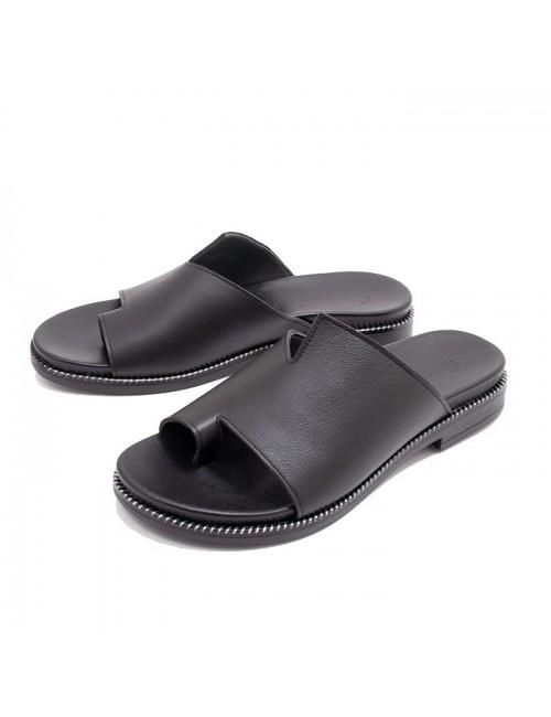 Γυναικείο παπούτσι flat Commanchero 5748-721 ΜΑΥΡΟ