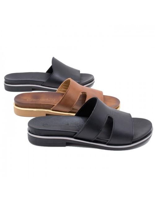 95d111002ec Γυναικείο παπούτσι flat COMMANCHERO 5519-721 ΜΑΥΡΟ
