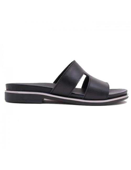 Γυναικείο παπούτσι flat COMMANCHERO 5519-721 ΜΑΥΡΟ