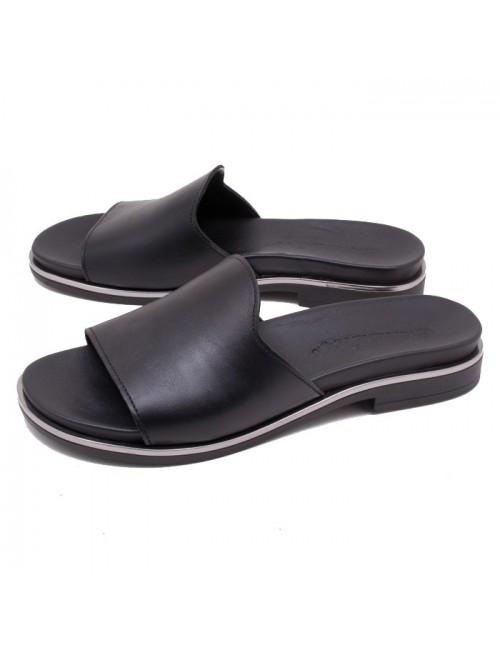 Γυναικείο παπούτσι flat COMMANCHERO 5521-72 ΜΑΥΡΟ