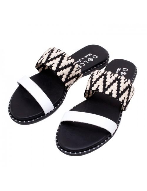 Γυναικείο flat παπούτσι DOLCE Ε190540 TYPE/WHITE