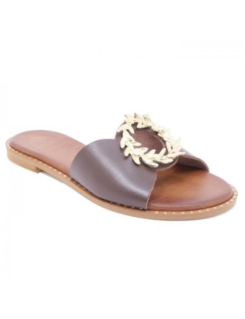 Γυναικείο παπούτσι flat TSAKIRIS MALLAS K453D5261340 ΚΑΦΕ
