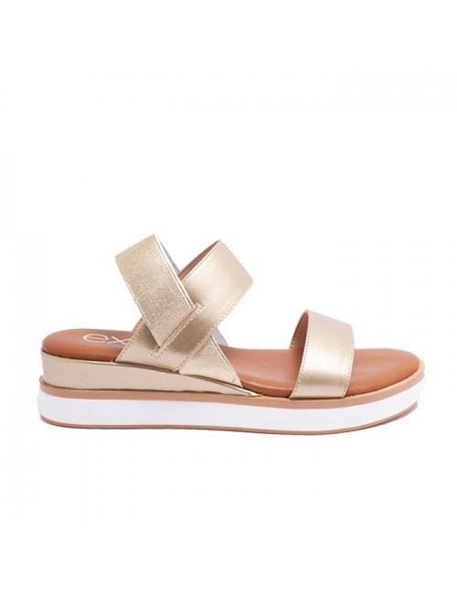 Γυναικείο παπούτσι flat EXE M47003252L46 ΧΡΥΣΟ