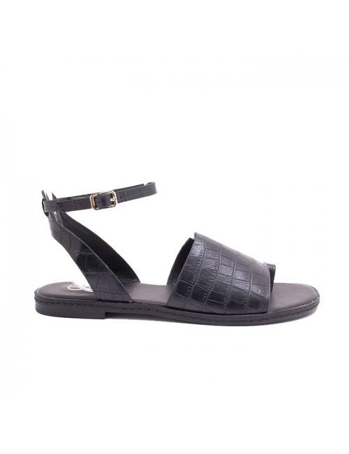 Γυναικείο παπούτσι flat EXE M47007651024 ΜΑΥΡΟ ΚΡΟΚΟ