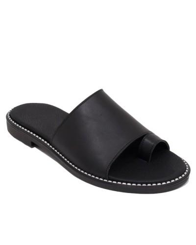 Γυναικεία Flat σανδάλια Exe Μαύρα