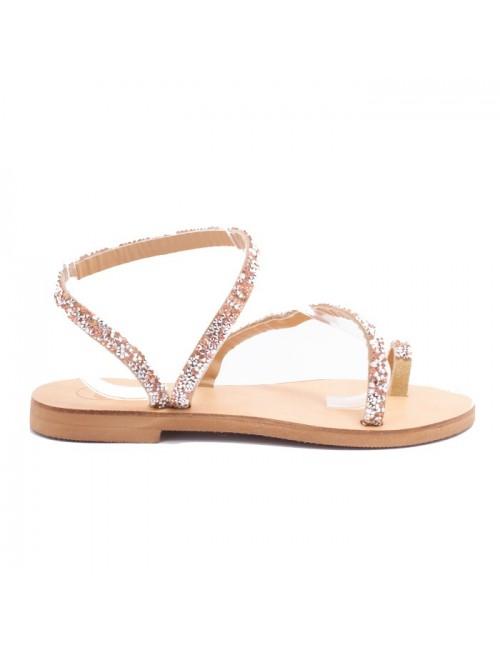 Γυναικείο παπούτσι flat EXE  M484F780189V ΙΡΙΔΙΖΟΝ GLITTER