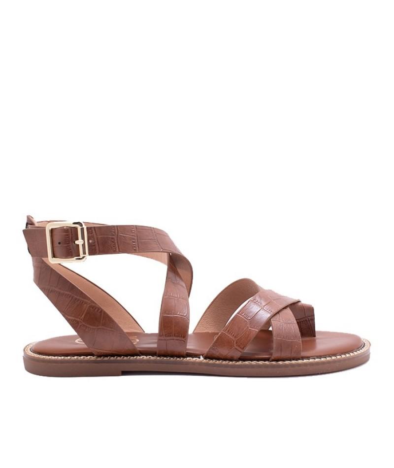 Γυναικείο παπούτσι flat EXE M4700010102405 καφε