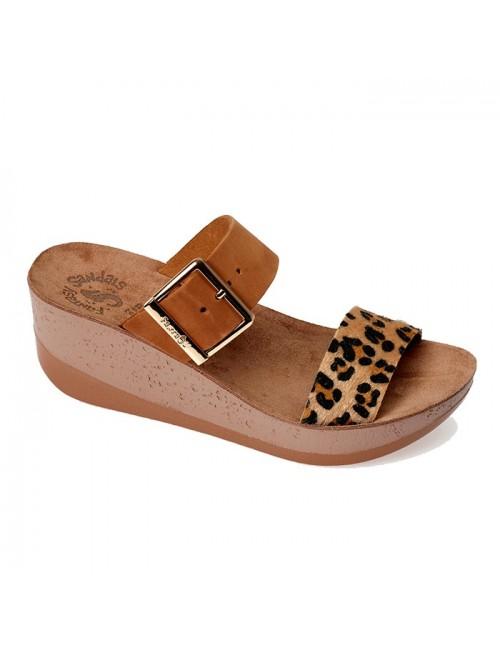 Γυναικεία σανδάλια FANTASY ARTEMIS s5002 leopard skin