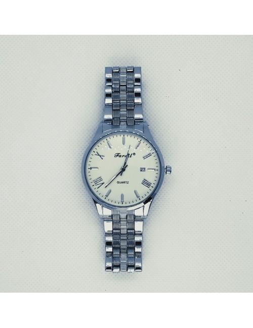 Γυναικείο ρολόι με μεταλλικό μπρασελέ Ρ-07 ασημί