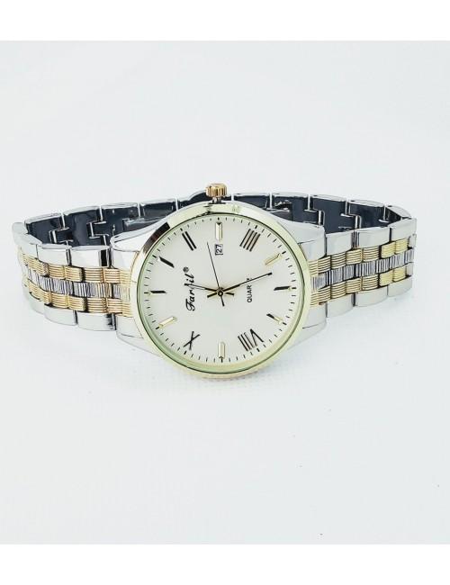 Γυναικείο ρολόι με μεταλλικό μπρασελέ Ρ-12 ασημί