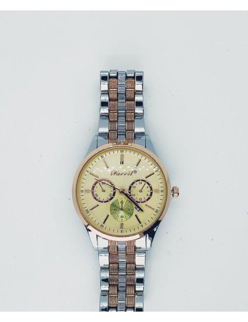 Γυναικείο ρολόι με μεταλλικό μπρασελέ Ρ-09 ασημί