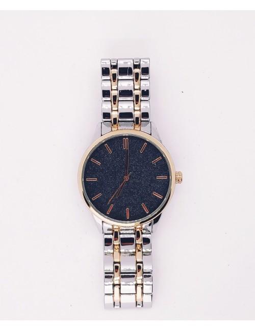 Γυναικείο ρολόι με μεταλλικό μπρασελέ Ρ-15  ασημί-χρυσό