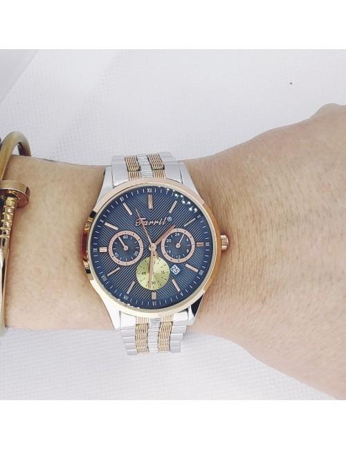 Γυναικείο ρολόι με μεταλλικό μπρασελέ Ρ-11 ασημί